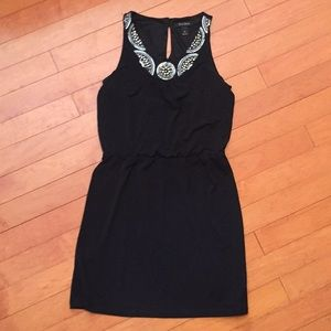 WHBM Sleeveless LBD with Silver Beaded Top